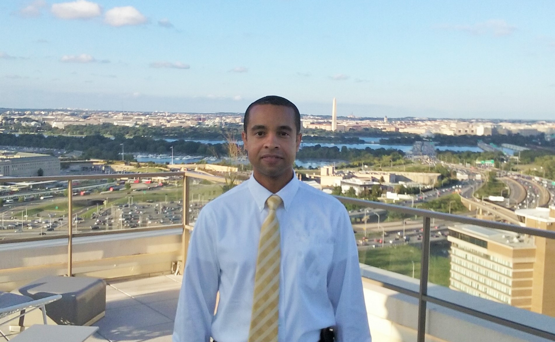 Keon with Washington DC Background