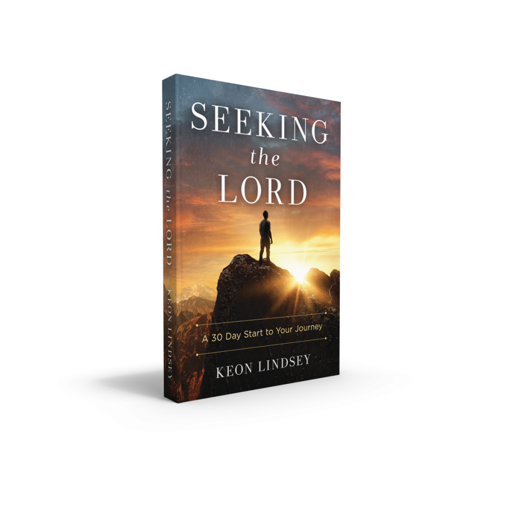 "Book titled ""Seeking the Lord"""